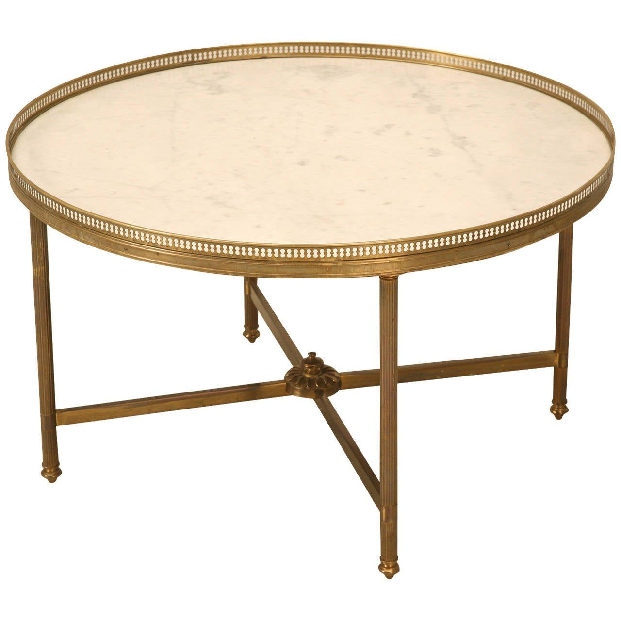 Park Art My WordPress Blog_Antique Brass Coffee Table With Marble Top