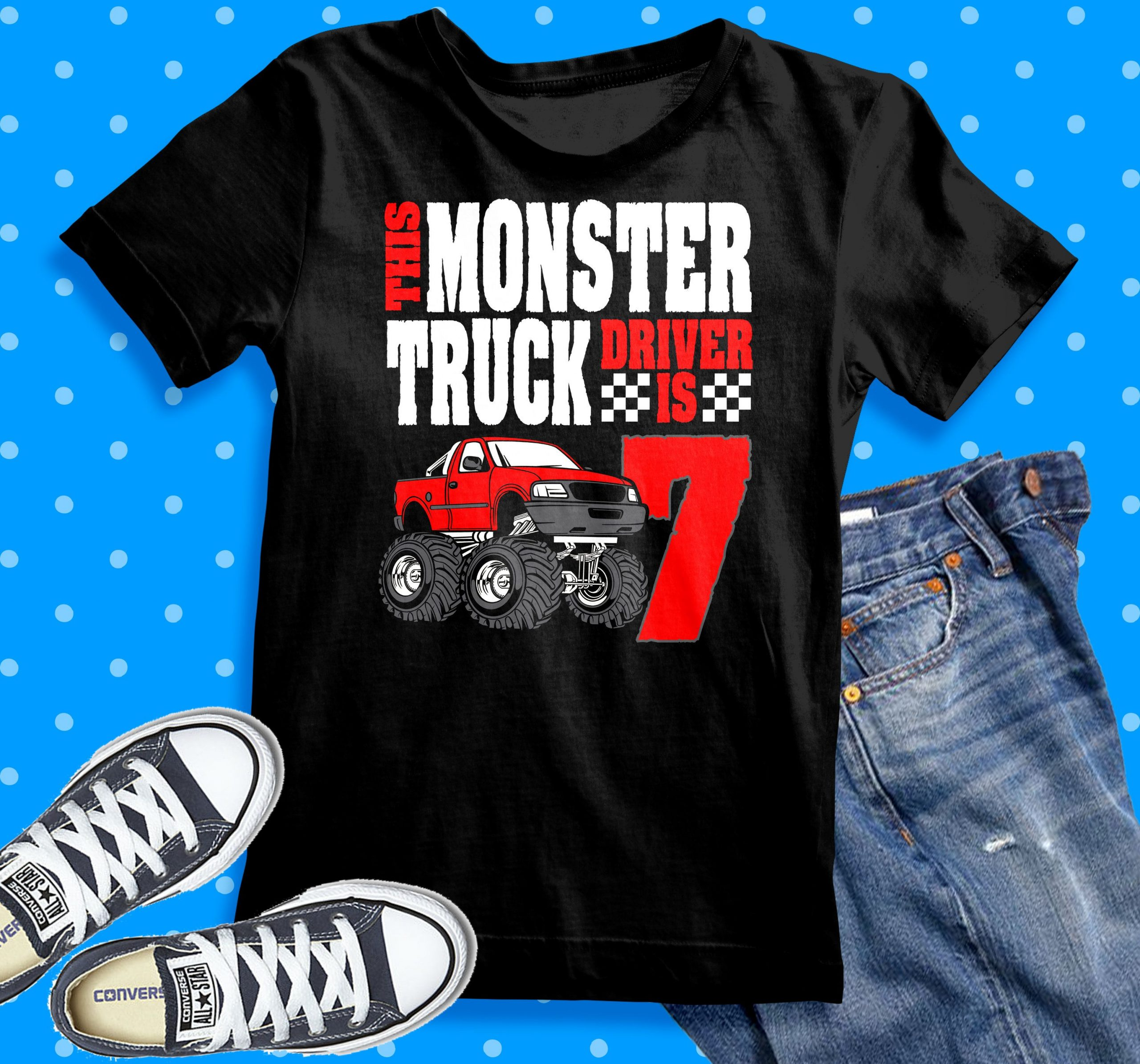Park Art My WordPress Blog_Monster Truck 2nd Birthday Shirt