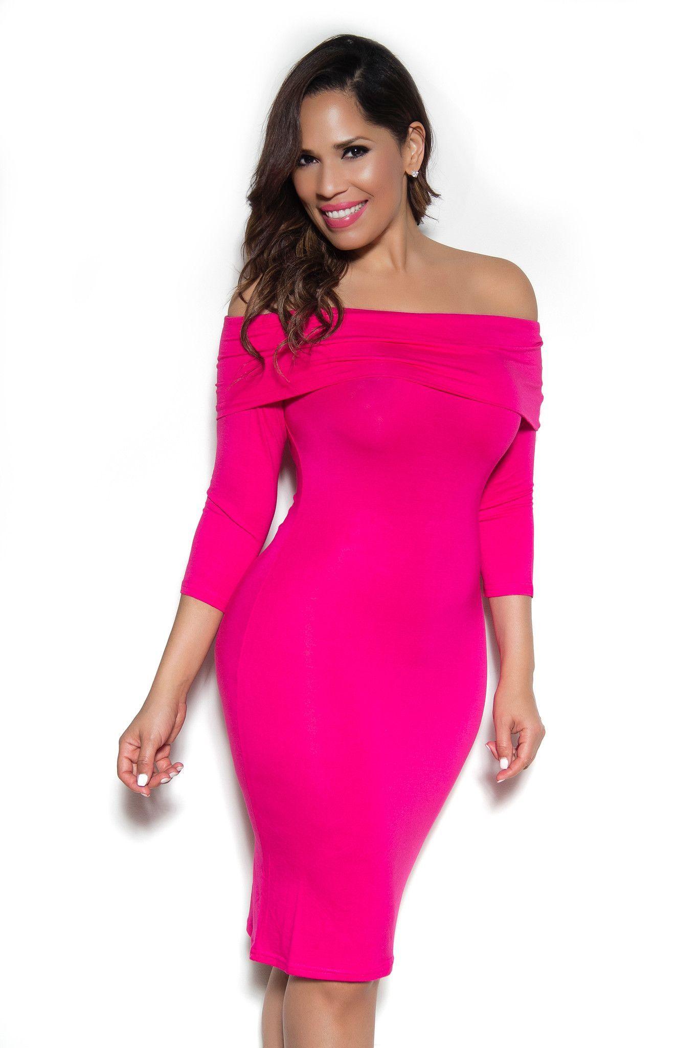 Park Art|My WordPress Blog_Hot Pink Bodycon Dress Long Sleeve