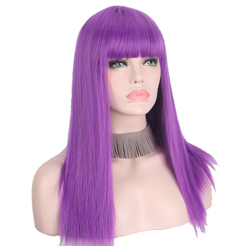 Park Art|My WordPress Blog_Purple Human Hair Wig With Bangs