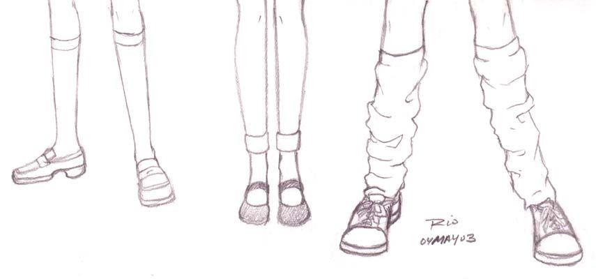 Park Art|My WordPress Blog_Anime School Girl Shoes Drawing