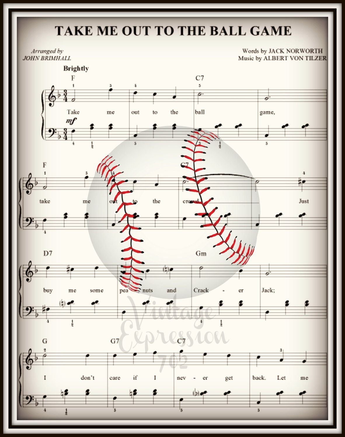 Park Art My WordPress Blog_Take Me Out To The Ball Game Piano Music