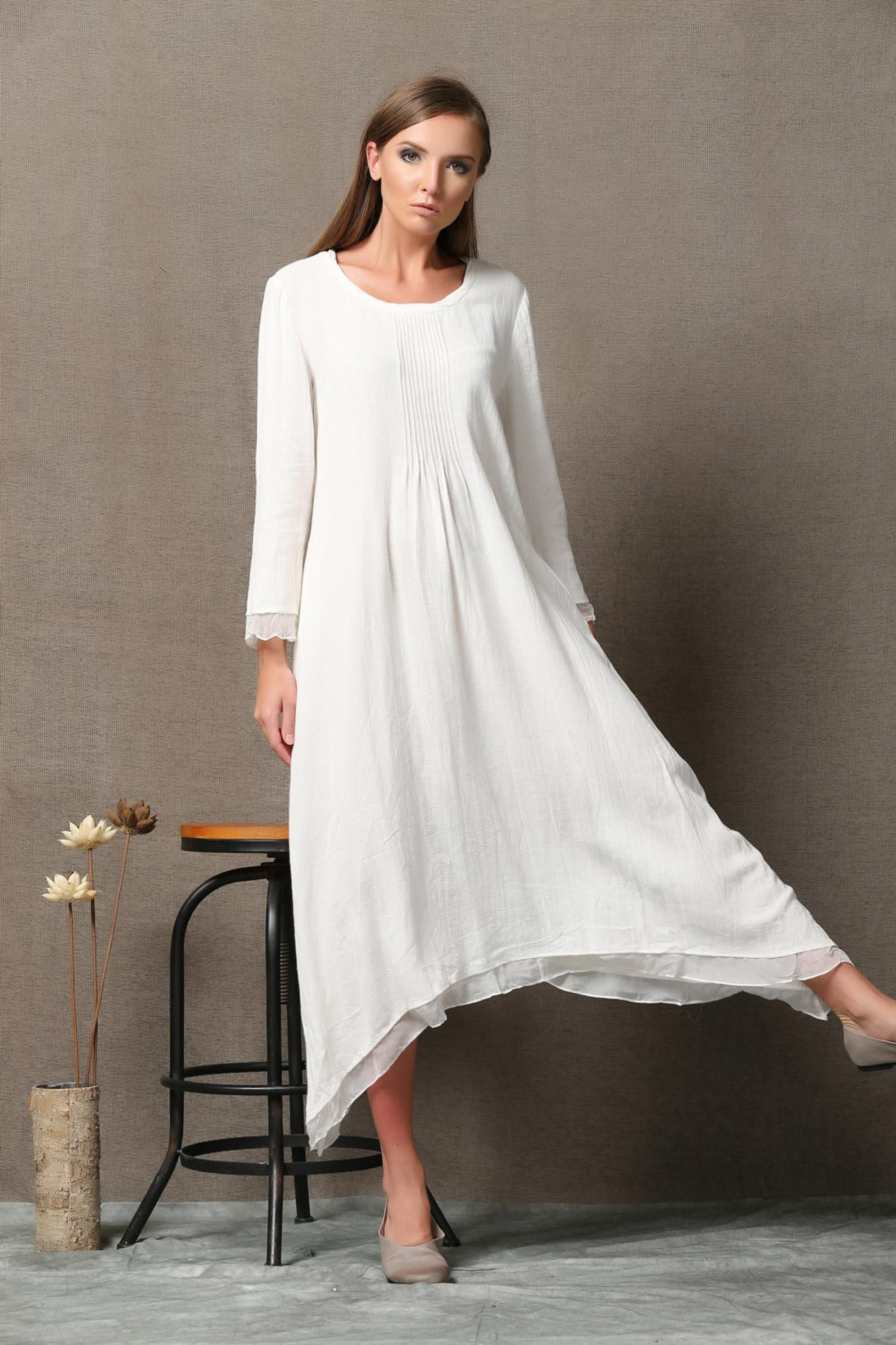 Park Art My WordPress Blog_White Asymmetrical Dress Long Sleeve