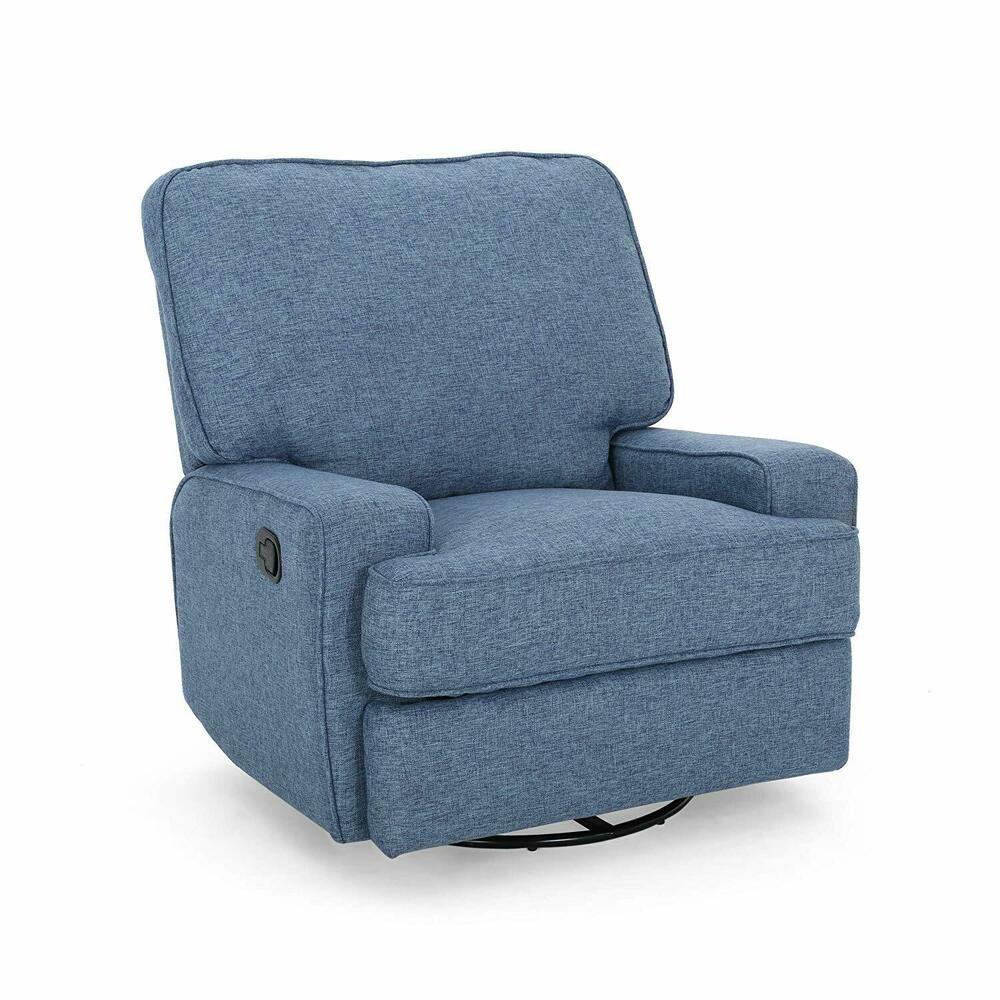 Park Art|My WordPress Blog_Navy Swivel Chair With Ottoman