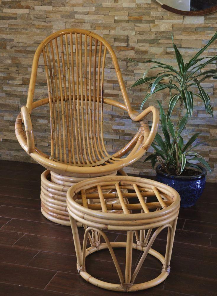 Park Art|My WordPress Blog_Vintage Rattan Chair With Ottoman