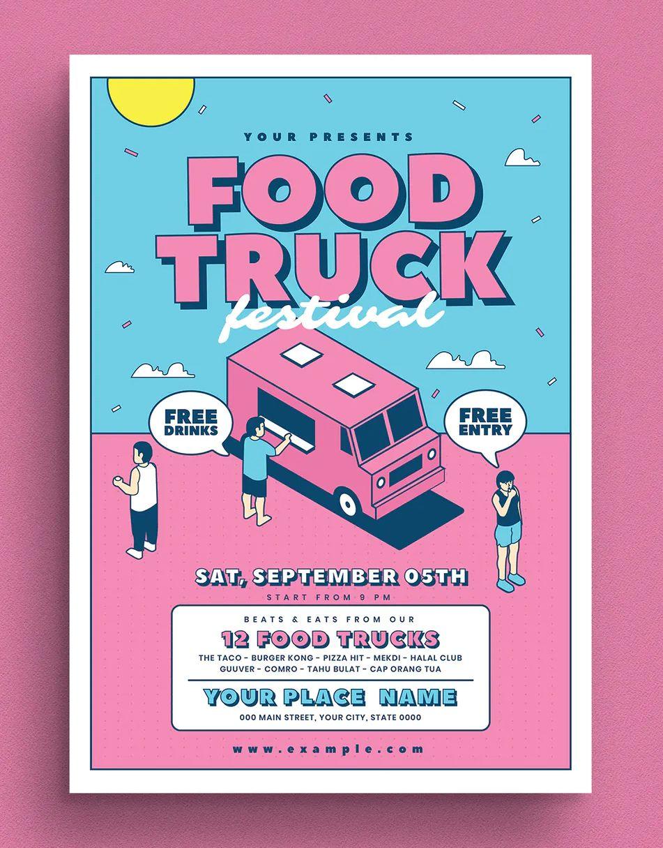 Park Art|My WordPress Blog_Food Truck Event Flyer Template