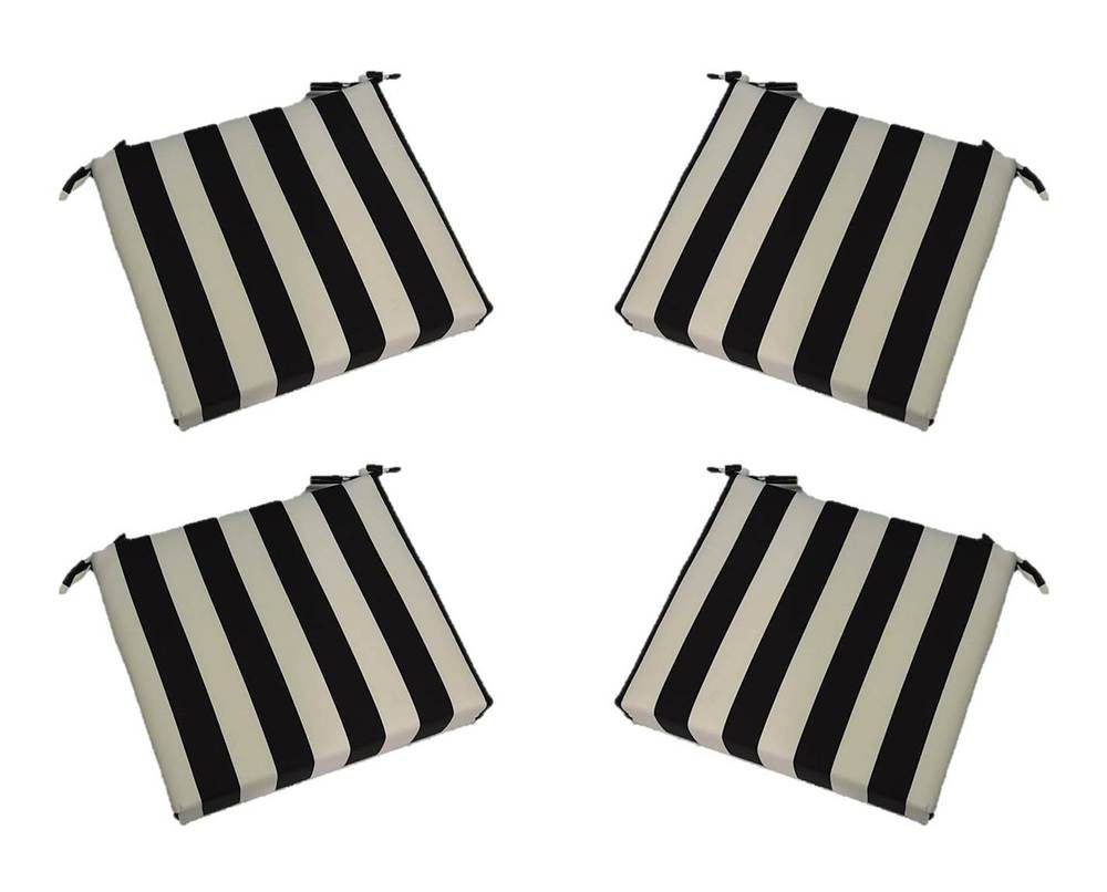 Park Art|My WordPress Blog_Black And White Striped Chair Cushions Outdoor