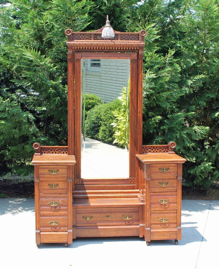 Park Art|My WordPress Blog_Light Oak Dresser With Mirror