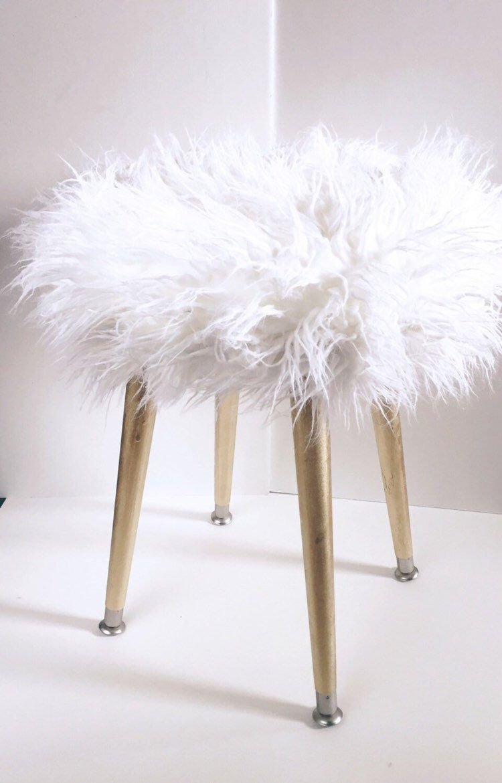 Park Art|My WordPress Blog_White Fur Chair With Silver Legs