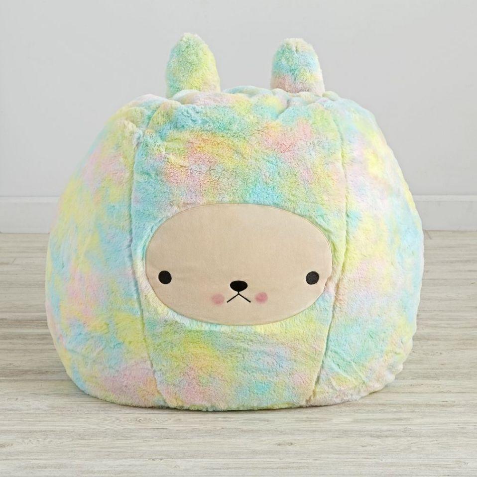 Park Art|My WordPress Blog_Rainbow Fluffy Bean Bag Chair