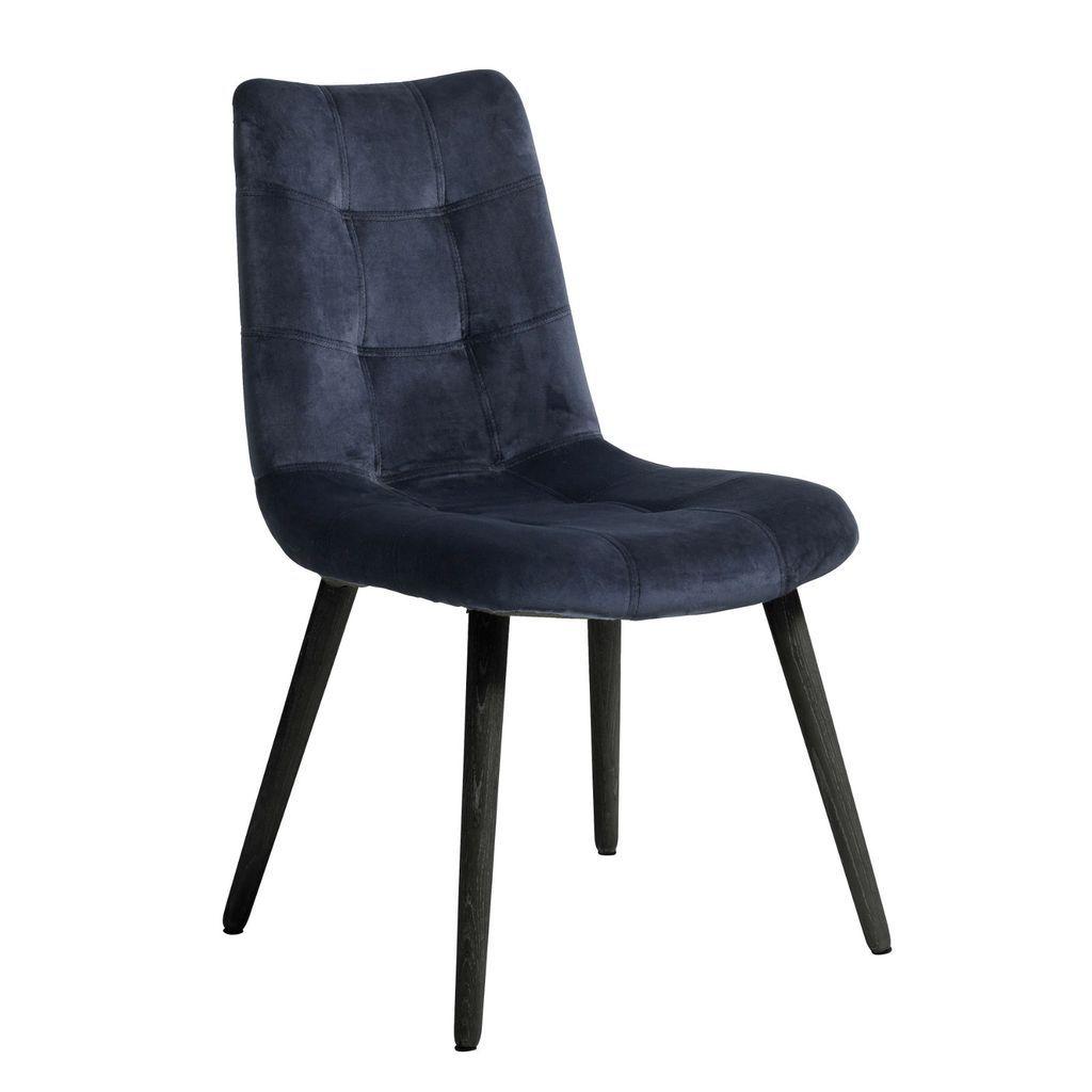 Park Art|My WordPress Blog_Navy Velvet Chair Black Legs
