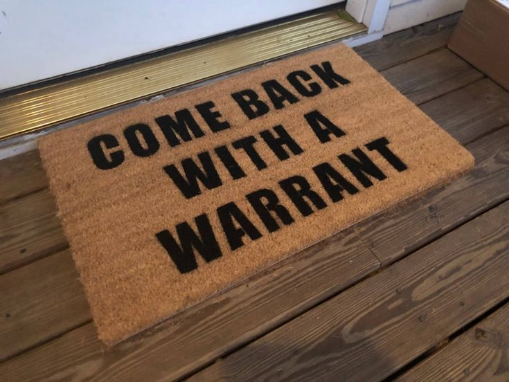 Park Art|My WordPress Blog_Come Back With A Warrant Doormat Meme