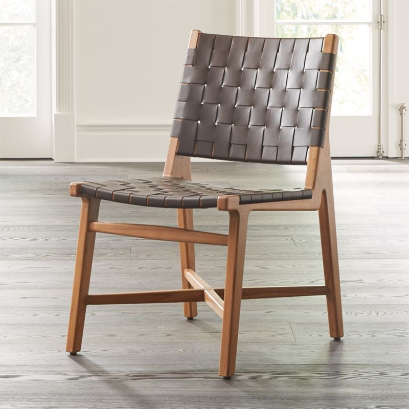 Park Art|My WordPress Blog_Woven Leather Strap Dining Chair